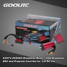 New GoolRC S3674 2650KV Brushless Motor 120A Brushless ESC and Program Card X6R9