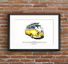 VW Split Screen Campervan ART POSTER - A3 size