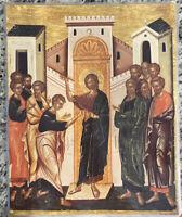 "Saint Thomas' Confession 14x11"" Laminated Greek Orthodox Icon #10"
