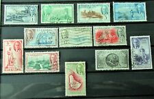 C1 - GEORGE VI BARBADOS 1950 COMPLETE SET OF 12 FINE USED ON S/CARD - NICE SET