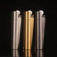 New Fashion Cigar Butane Gas Refillable Flint Cigarette Lighter 3 colors