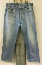 "VTG 1970's 501 Levi's Small e Redline Selvedge Denim Jeans 32"" x 27""  USA  No. 6"
