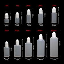 Refillable Empty Plastic Sample Drop Bottle Squeezable Eye Liquid Dropper  RIV
