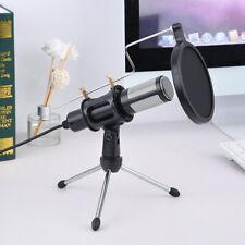 Usb Microphone Wired Condenser Studio Live Stream Recording Mic w/ Tripod Stand