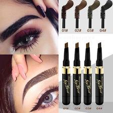 Beverly Hills Brush,2In1 Brown Colors Women Eyebrow Makeup Waterproof Pencil Gel