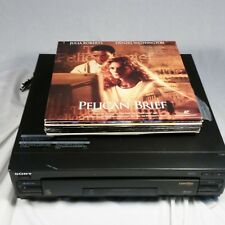 Sony MDP-500 Laserdisc Player with 10 Action Drama Discs Bundle WORKS