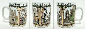Vintage Souvenir ☕ COFFEE MUG ☕ CITY OF YORK England - Cotswold China Company