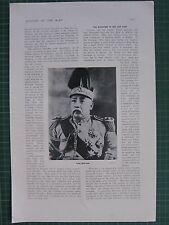 1917 WWI WW1 PRINT ~ YUAN SHIH KAI ~ CHINA