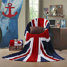 Brithish Union Jack UK Flag Throw Luxury Soft Blankets Bedspread Bed Couch Sofa