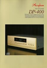 Accuphase dp-400 Catalogo Prospetto Catalogue datasheet brochure