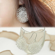 GMN Chic FashionSilver Plated Dandelion Dangle Stud Earrings Jewelry