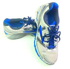 Brooks Adrenaline GTS 14 Silver Blue Running Sneakers Shoes Mens 9.5 1101581D177