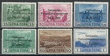 German Occupation Montenegro stamps 1943 MI 10-13+15-16  MNH  F/VF