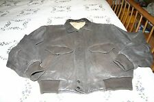 80's MIRAGE Leather Bomber Aviation Motocycle Jacket Size Large