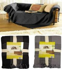 Checked Modern 100% Cotton Decorative Throws