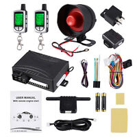 Car Alarm Keyless Entry Security System Unit with 2-Way LCD Remote Start