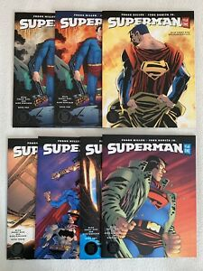 Superman Year One #1 2 3, 2nd Print, Variants Complete Set Lot of 7 Frank Miller