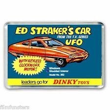 RETRO NOSTALGIA -  ED STRAKERS UFO DINKY TOYS  ADVERT - JUMBO FRIDGE MAGNET