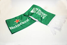 Heineken Rugby World Cup 2015 'Try' green & white, Rugby banner scarf