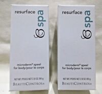 Lot of 2 Beauticontrol Resurface Spa Microderm Apeel Body Sealed Discontinued