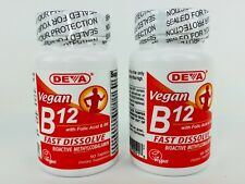 Deva VEGAN B12 with Folic Acid & B6 - Fast Dissolve 180 Tabs Methylcobalamin
