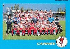 N°004 EQUIPE TEAM AS.CANNES VIGNETTE PANINI FOOTBALL 96 STICKER 1996