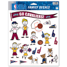 Cleveland Cavaliers Family Decal Sticker Set (Not for Outdoor Use!)