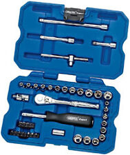 "Draper Expert 40 Piece 1/4""dr Metric and AF Socket Set 02349 Premium Quality"