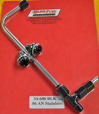 Quick Fuel Holley Carburetor Dual Feed Line 4150 Carb Fuel Log Black