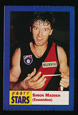 1991 Footy Stars Simon Madden Essendon  Sticker Bombers
