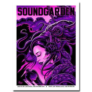 Soundgarden - Psychedelic Trippy Art Silk Poster 13x18 24x32 inch 003
