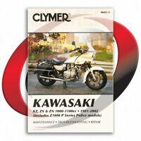 1981-1982 Kawasaki KZ1000 K1/K2 LTD Repair Manual Clymer M451-3 Service Shop