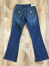 True Religion Womens Blue Jeans Size 28 Flare Leg Twist Medium Wash