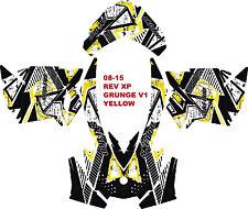 SKI DOO SNOWMOBILE DECAL WRAP KIT REV,XP, XR,XS,XM 03-16 GRUNGE V1