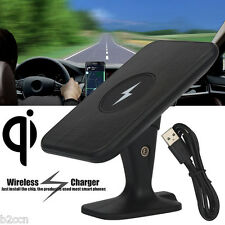 Qi Wireless Car Fast Charger Stand Dashboard Air Vent Mount For Samsung S7 Phone