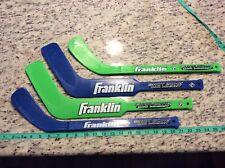 Franklin Mini Shot Zone Hockey Sticks Lime Green Blue Sports 4 Sticks Outdoor