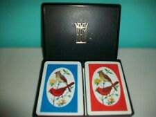 VINTAGE DOUBLE DECK PLAYING CARDS - KEM PINOCHLE - CARDINALS - 4/83