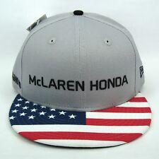 New Era Men's McLaren Honda F1 USA Grand Prix Race Flag Snapback Cap - S/M