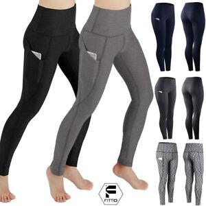 Men High Waist Compression Pants Base Layer Long Tight Leggings  Sports Running
