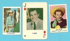 Rex Alen Arizona Cowboy Country Singer Fab Card LOT narrator Disney Films B