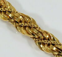 "18K Gold ITALIAN TWISTED ROPE BRACELET 7"" 1AR 23.6grams Sparkly!"