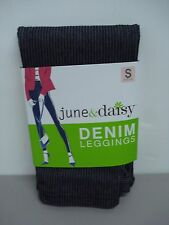NWT Women's June & Daisy Pinstripe Denim Leggings Size Small Railroad #155D