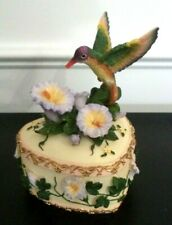 Vintage Heritage House Wind Beneath My Wings Working Bird Flower Music Box Bin 5