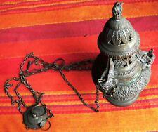 Encensoir en bronze doré ajouré XIXe Siècle