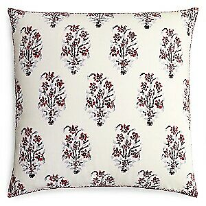 "Jr by John Robshaw Mandam 26"" Linen Cotton Decorative Pillow - EURO - Multicolor"