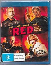 Red Blu Ray New (Helen Mirren,Morgan Freeman,Bruce Willis) Region B Free Post