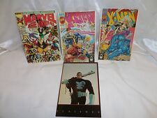 1992 Marvel X-Men & Punisher Cover Art Postcards Lot of 4 Unused
