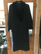 Essentials Ladies Womens Long Woolly Style Winter Coat (Black) UK Size 10