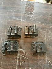 4 Avail Price Separate Antique Cast-Iron Cabinet Latch 2 1/8 X 2.25