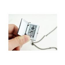 Death Note Notebook L Necklace Post Watch Cool Cosplay Uniqe Gift Jewelry Anime